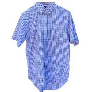 M&S Collection Mens White Collared Stripped Shirt